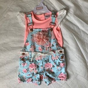 Girls Overalls Outfit
